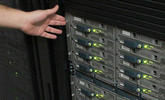 An image of the rack mounted servers that host databases