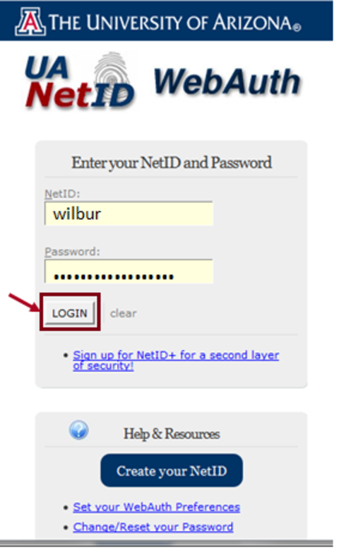 WebAuth login