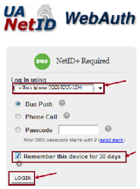 Remember device and log in