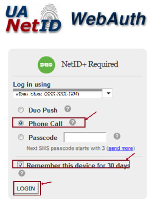use phone call for second step of authentication