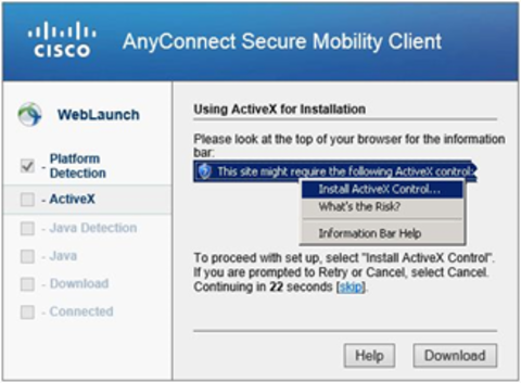 Cisco using Activex
