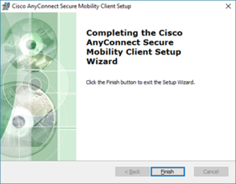 Cisco setup wizard finished
