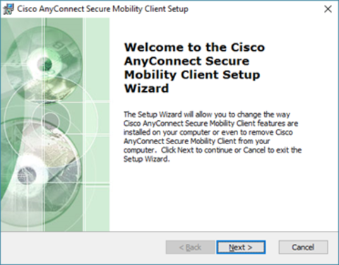 Cisco setup wizard