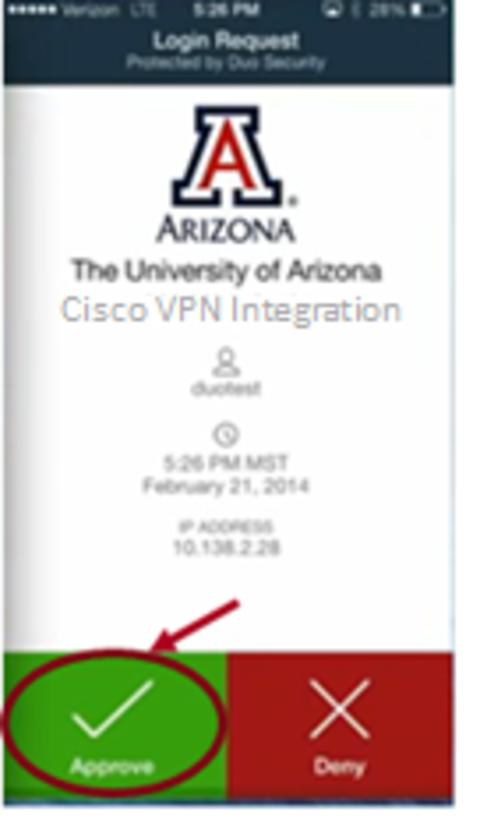 Connect to UA VPN Using Duo Mobile App | Information Technology