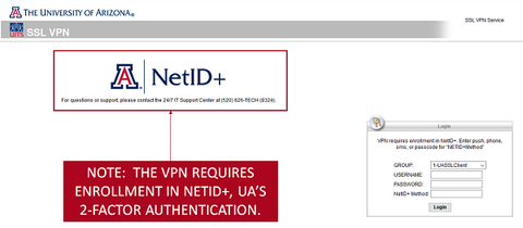 vpn.arizona.edu page