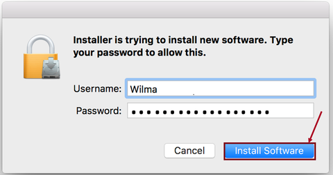 Name Password Install Software