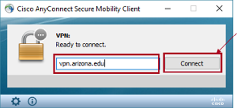 Type in vpn.arizona.edu