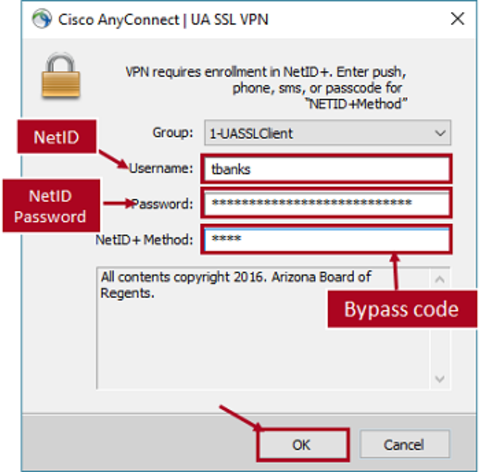 Login using bypass code