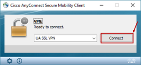 Cisco VPN Connect screen