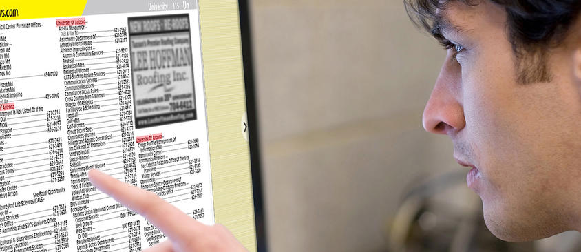 An image of a man viewing the dex directory online