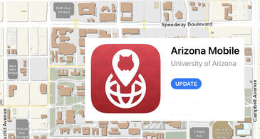 campus map with Arizona Mobile update in App Store