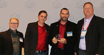 Keith Fowlkes, VP of Technology Contracts, E&I; Mike Florian, UITS Financial Analyst; Derek Masseth, UArizona CTO; Rick Haugerud, Cloud Awards judge