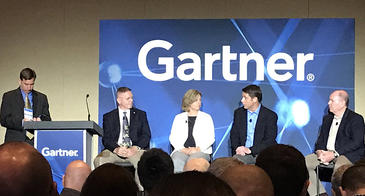 The Gartner summit panel of Chief Information Security Officers included Bob Jamieson, Mallinckrodt Pharmaceutics; Lanita Collette, UA; Robert Daugherty, Cobham Advanced Electronic Solutions; and Chris Wlaschin, Department of Health and Human Services.