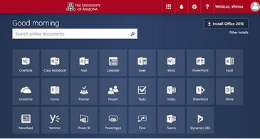 UA Branded Office 365 Sign In Screen