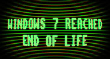 """CRT screen reading """"Windows 7 reached end of life"""""""